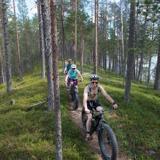 Mountainbiken im Nationalpark Hossa