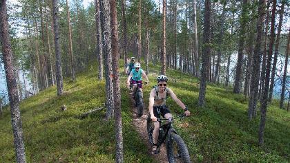 Mountainbiken im Nationalpark Hossa