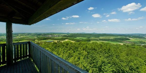 Aussicht von der Vulcano Infoplattform_Vulkaneifel-Pfad: Vulcano-Pfad Schleife Ost