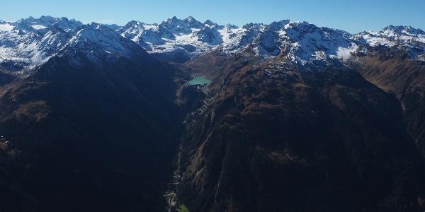 Blick in die Silvretta von der Versallspitze