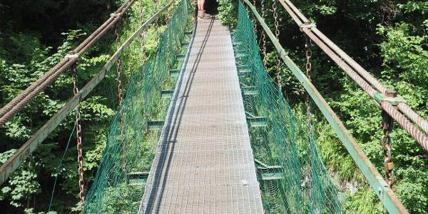 Prielom Hornádu / Kláštorksá dolina - ústie / lanový most přes Hornád