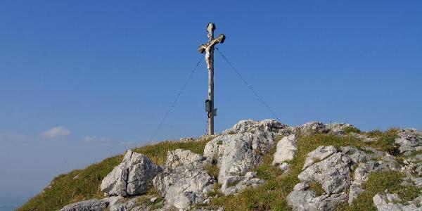 Am Gipfelkreuz des Bocksteins
