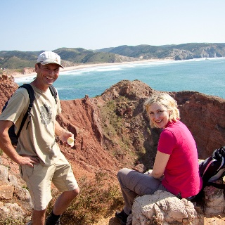 Wanderpause an der Algarve