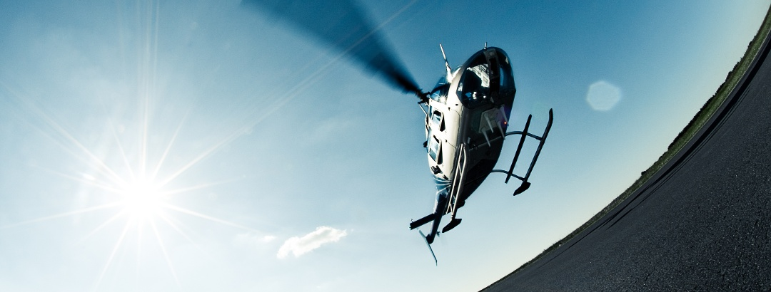 Ein Helikopter in Burbach