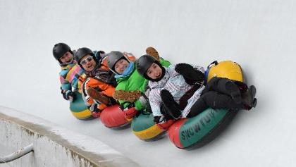 Ice-Tubing auf der Bobbahn