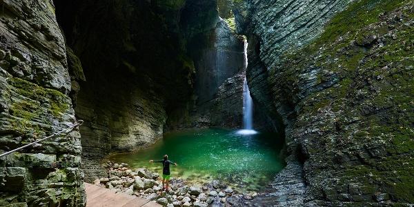 Wasserfall Kozjak, Kobarid