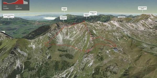 Bergtour im Allgäu: Nebelhorn Gipfelrunde