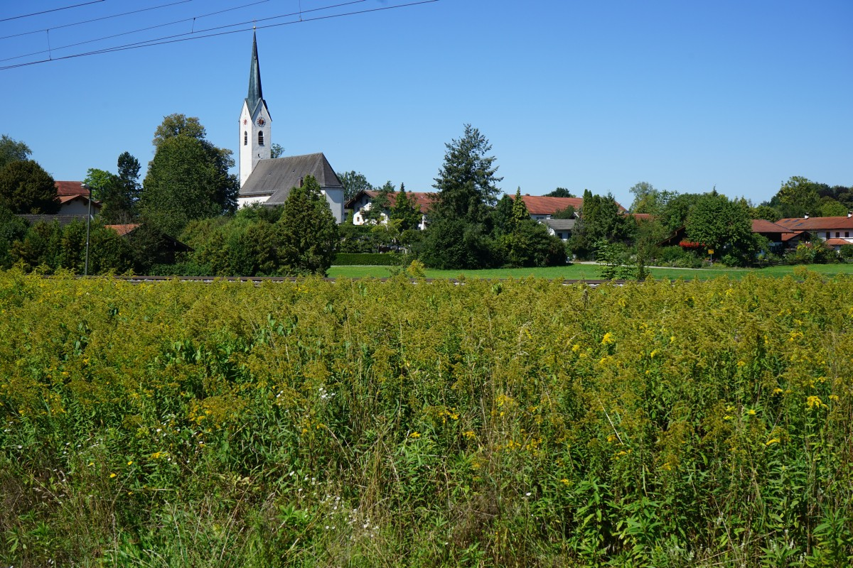 Blick auf Stephanskirchen