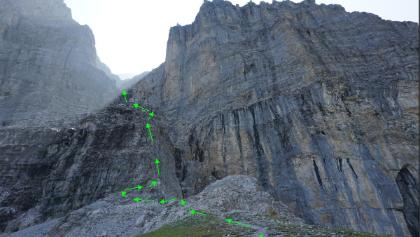 Eiger Rotstock approach and start