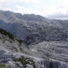 Rückblick kurz vorm 9er-Kogel Richtung Röllsattel; Rotgschirr links im Bild