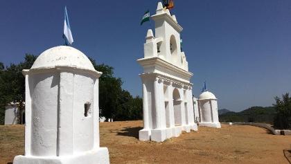 The belfry at Peña de Arias Montano.