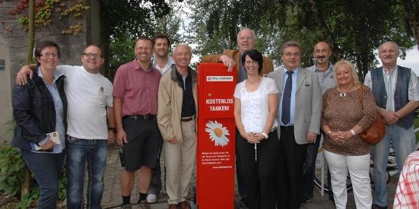 Einweihung_E-Bike_Tankstelle am Anglerheim Neupotz