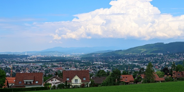 Blick über Pfeffingen Richtung Basel.