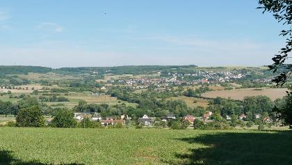 Blick auf Blies-Schweyen und Blies-Guersviller