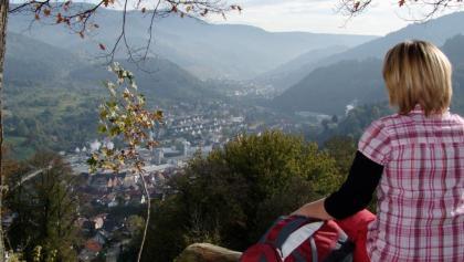 Blick von Schloss Eberstein