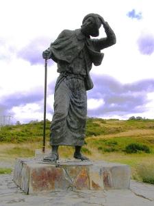 Pilgerstatue auf Alto do San Roque
