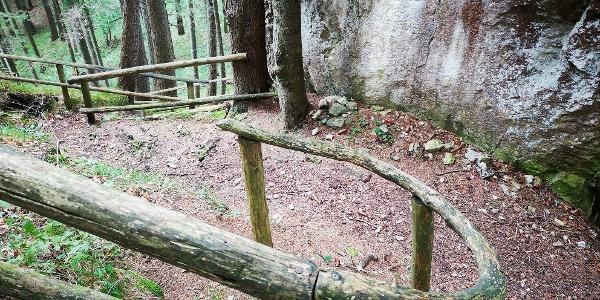 Kurz unterhalb des Rabensteingipfels