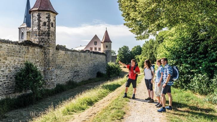 Wandergruppe in Seßlach