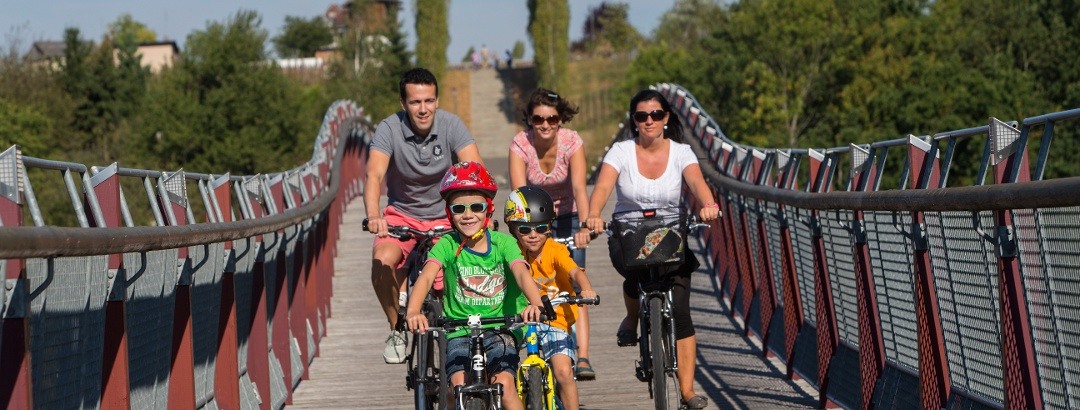 Familienradtour Drachenschwanzbrücke in Ronneburg