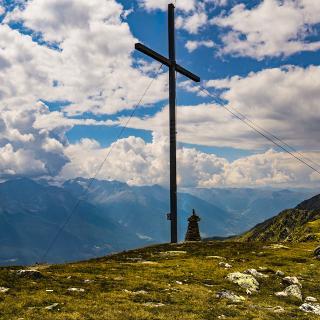 Das Gipfelkreuz am Niederjöchl
