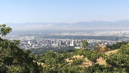 Overlook of Downtown Salt Lake City