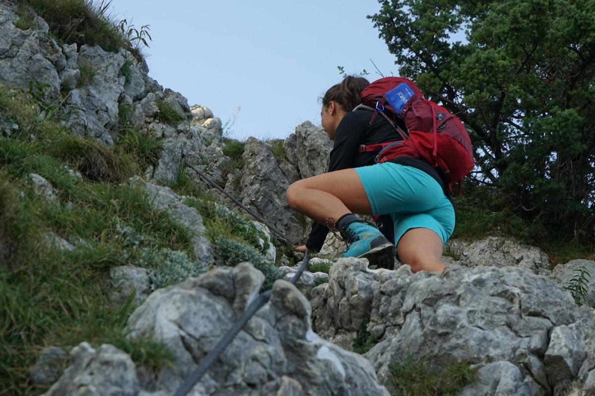 Drahtversicherter Aufstieg zum Wasserwandgipfel (leichter Klettersteig)