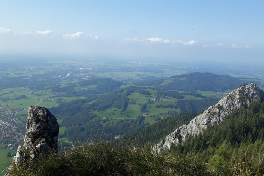 Ausblick zur Kindlwand und Nußdorf unten links