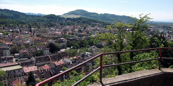 Blick auf Freiburg vom Kanonenplatz