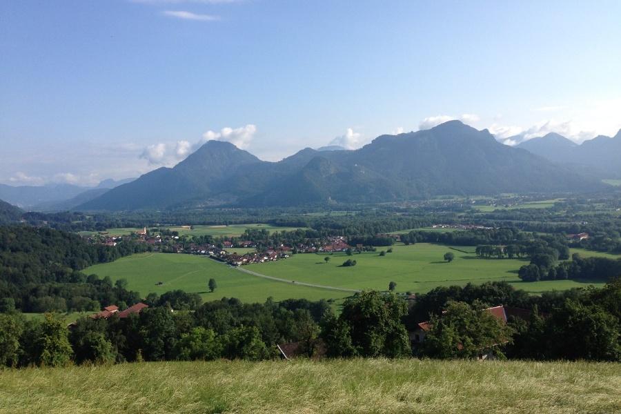 Ausblick von der Dandlbergalm ins Inntal