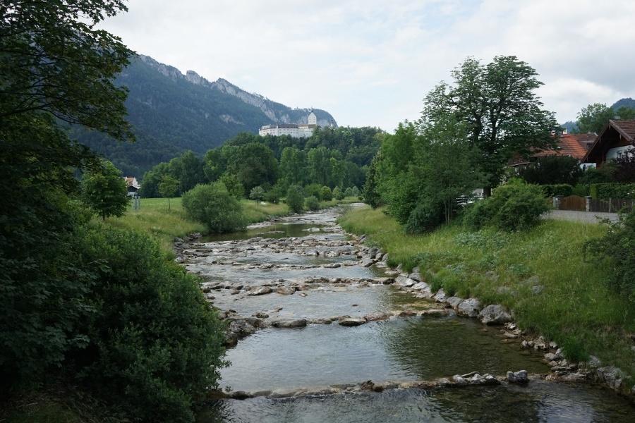 Zuweg von Aschau zur SalzAlpenTour an der Prien entlang