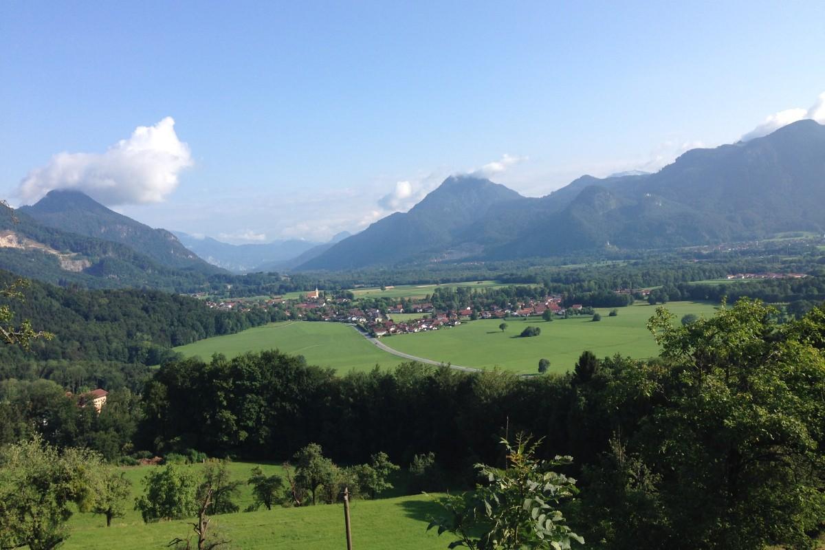 Blick von der Dandlbergalm ins Inntal
