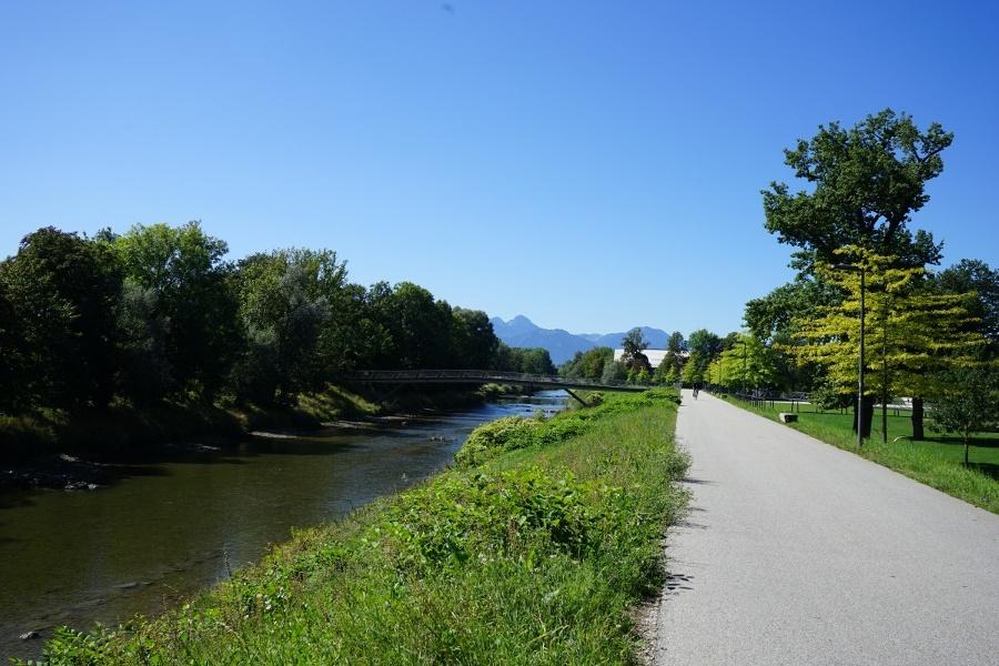 Zuweg zum SalzAlpenSteig von Rosenheim nach Prien