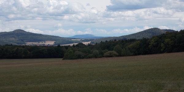 Blick vom Baier zum Thüringer Wald