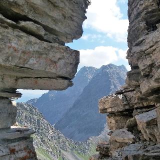 Felsenfenster am Chlei Tschingel.