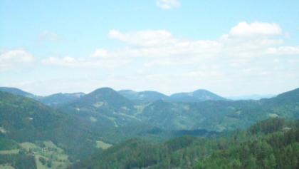 Ausblick vom Alpengasthof Eckwirt in die Lipizzanerheimat