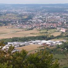 Blick vom Hohenstein Richtung Süssen