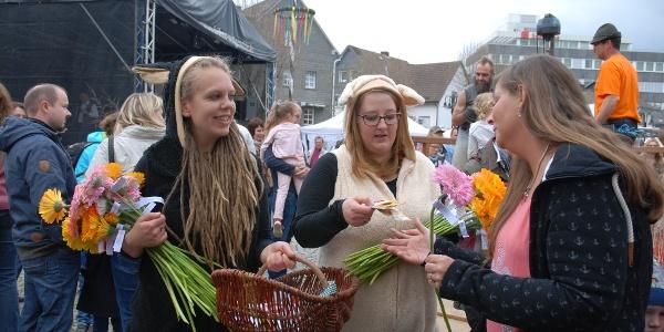 Wollmarkt Blumenaktion