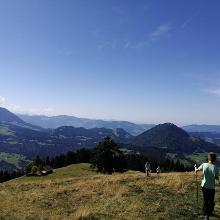Blick über den Hittisberg Richtung Bodensee