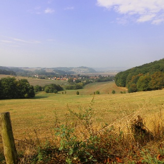 Blick auf Neuenhof und Göringen bei Hörschel/Eisenach am
