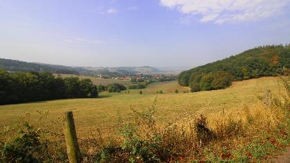 """Blick auf Neuenhof und Göringen bei Hörschel/Eisenach am """"Heimatblick"""""""