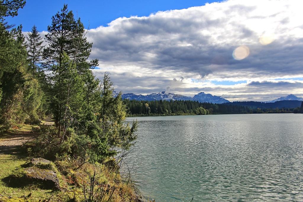 Traumhaftens Panorama vom Ufer des Lechs aus gesehen (Wilheilm Franke)