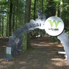 Eingang des Wolfssteigs in Waldshut - Wildgehege
