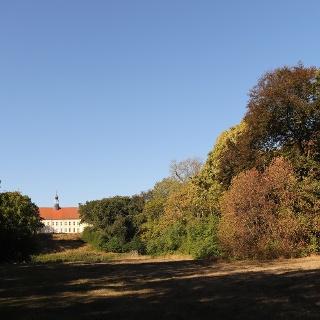 Blick auf das Schloss Hohenprießnitz
