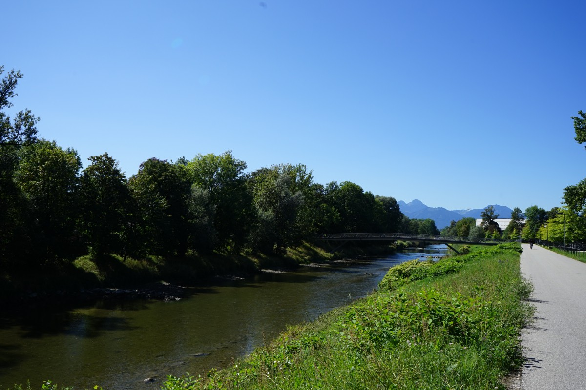 Alpenkulisse im Mangfallpark