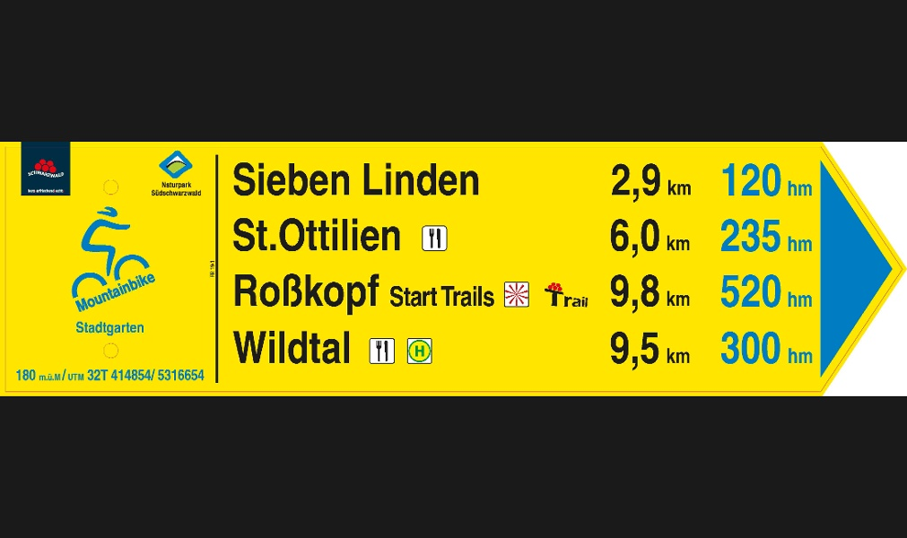 MTB-Trail-Tour Freiburg - Wildtal - Rosskopf - Borderline