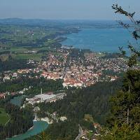 Ausblick vom Dreiländereck auf die Stadt Füssen