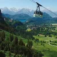Aufstieg mit der Tegelbergbahn