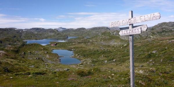 Seenlandschaft rund um die Hütte Sloaros
