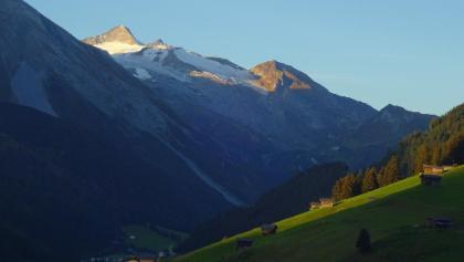 Blick vom Himmenhof auf den Olperer / Hintertuxer Gletscher