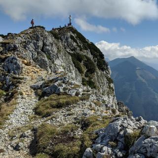 Kurzer Weg zum Gipfel nach dem Ausstieg